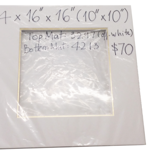 16x16(10x10) double mat - gold and off white