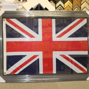UK Flag framed with corner protective cardboard P1501